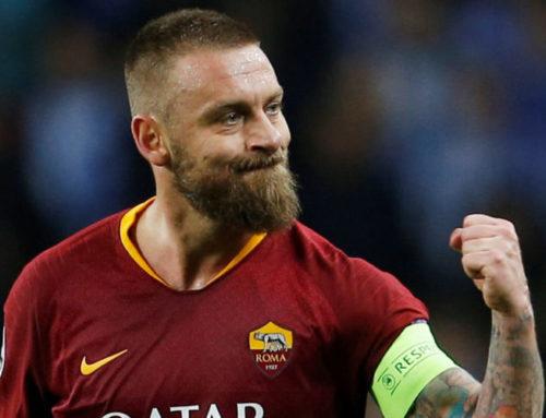 Känslosamt avsked i De Rossis sista match för Roma