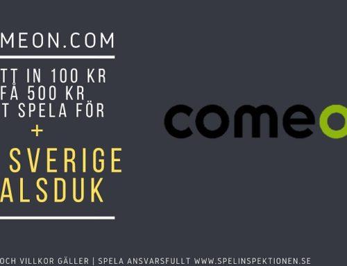 Välkomsterbjudande hos Comeon – Få 500 + en Sverige halsduk