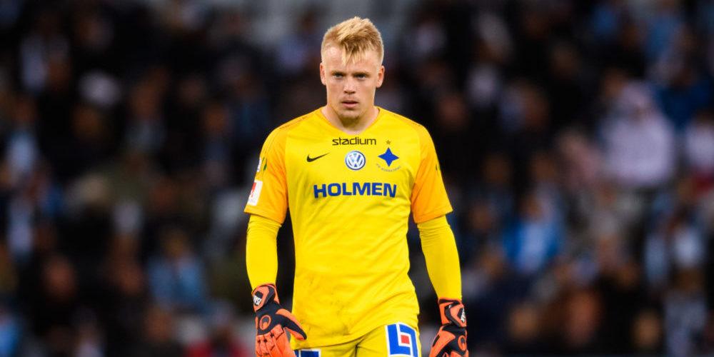 IFK Norrköpings målvakt Isak Pettersson