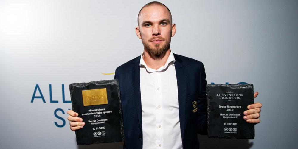 Vinnaren av Årets mest värdefulla spelare och Årets försvarare Djurgårdens Marcus Danielson