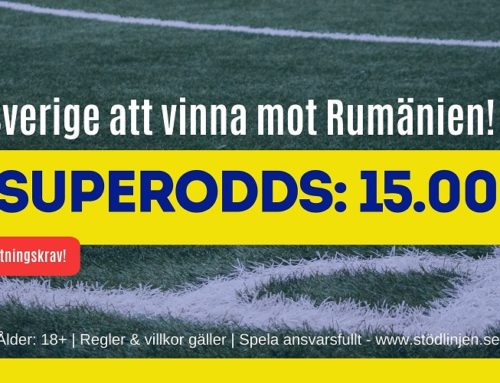 Boostade odds (15/11) | EM-kval: Rumänien – Sverige