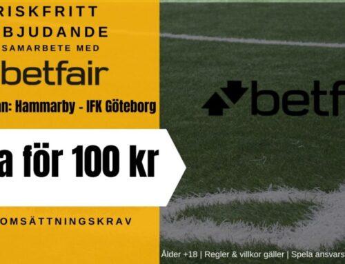 Riskfritt spel (20/7): Hammarby vs IFK Göteborg