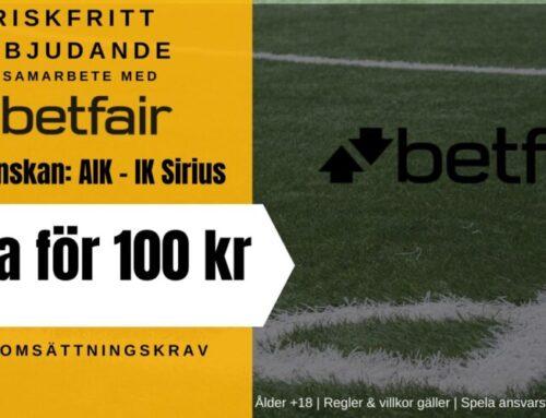 Riskfritt spel (15/7): AIK vs IK Sirius