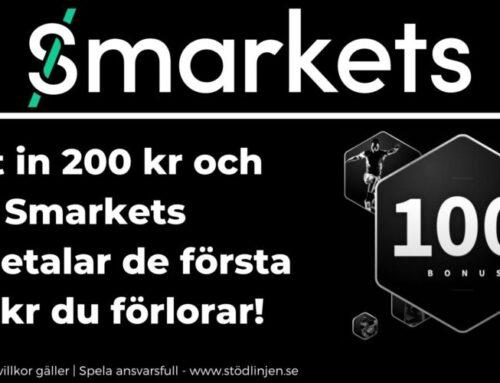 Välkomstbonus Smarkets – Få 100 kr i bonus