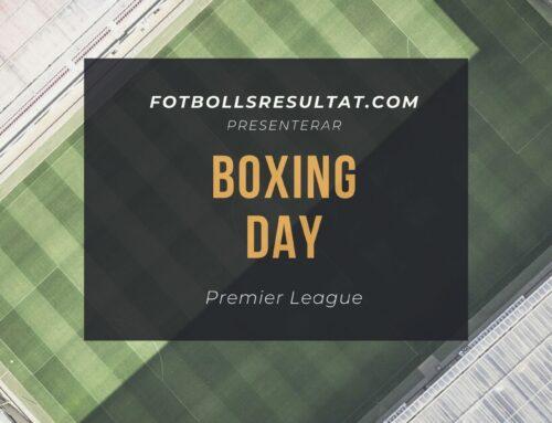 Boxing day 2020 – Premier League