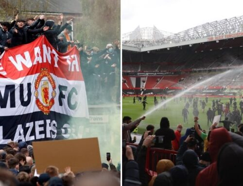 Protesterna från Manchester United-supportrarna slutade med att matchen mot Liverpool blev uppskjuten